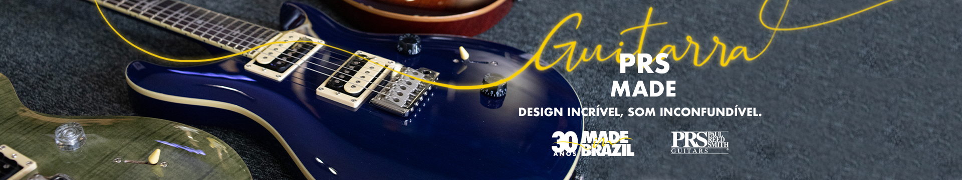 Guitarras PRS modelos exclusivos na Made in Brazil